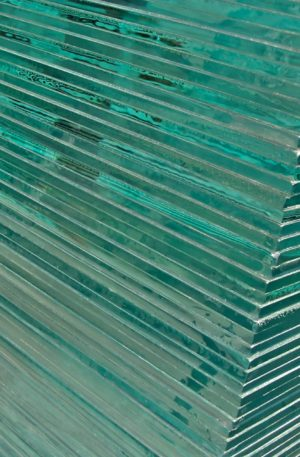 green-glass-stack
