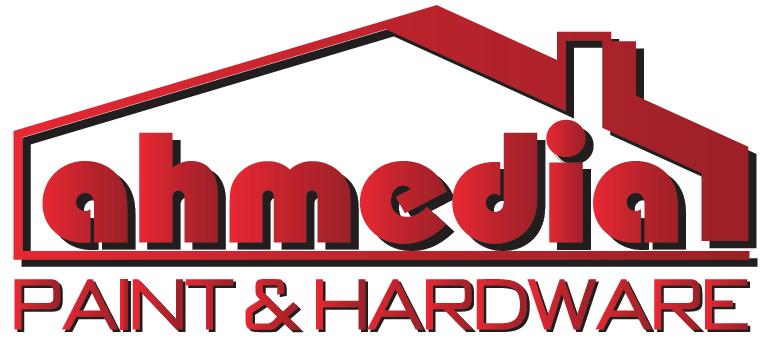 Ahmedia Paint & Hardware Logo